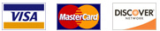 We accept Visa, Mastercard & Discover